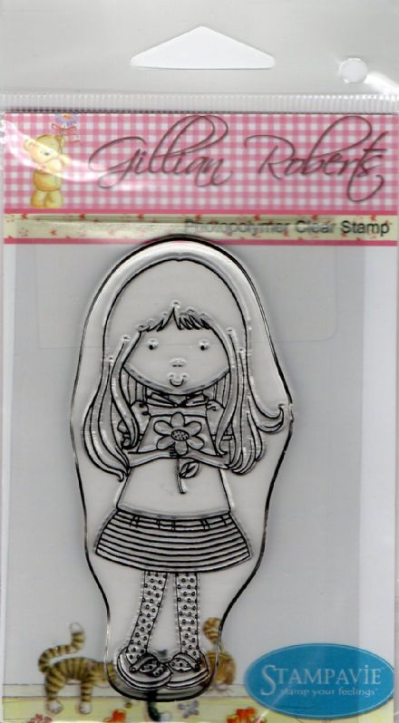 GR 028 ~ FIONA ~ Gillian Roberts clear stamps STAMPAVIE